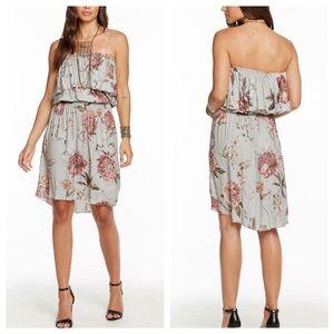 Chaser Smocked Waist Off Shoulder Floral Dress NWT
